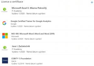 LinkedIn Certifikáty