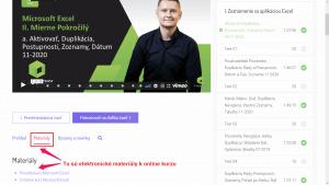 Online kurzy - materiály v priamo v kurze