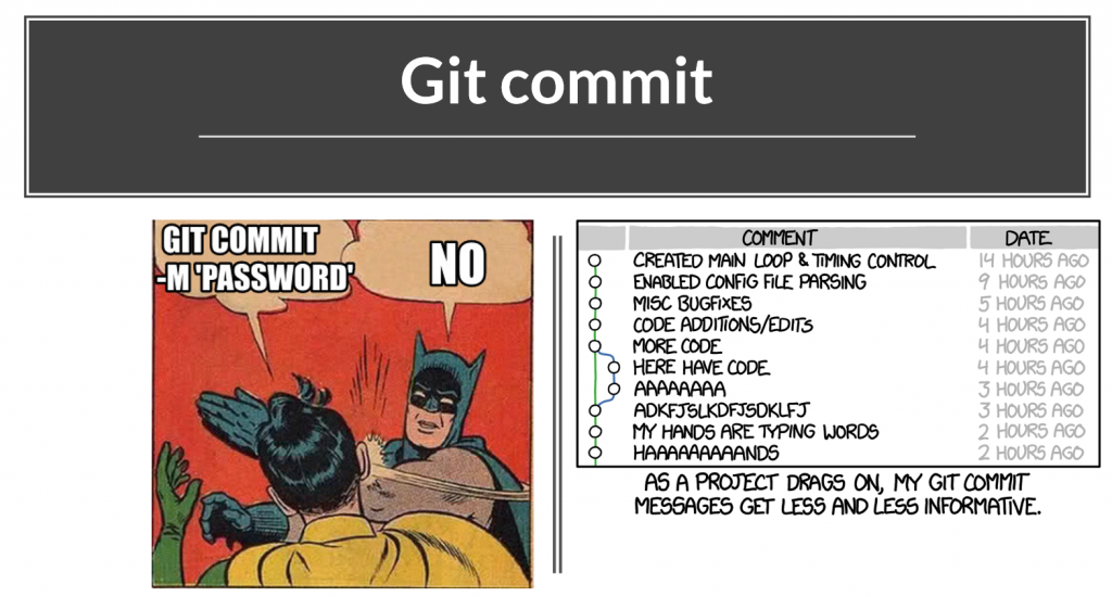 Git commit heslá