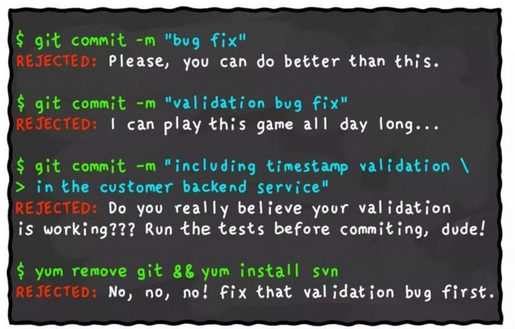 Git commity faily